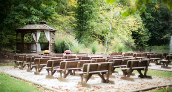 Brown County Weddings outdoor gazebo